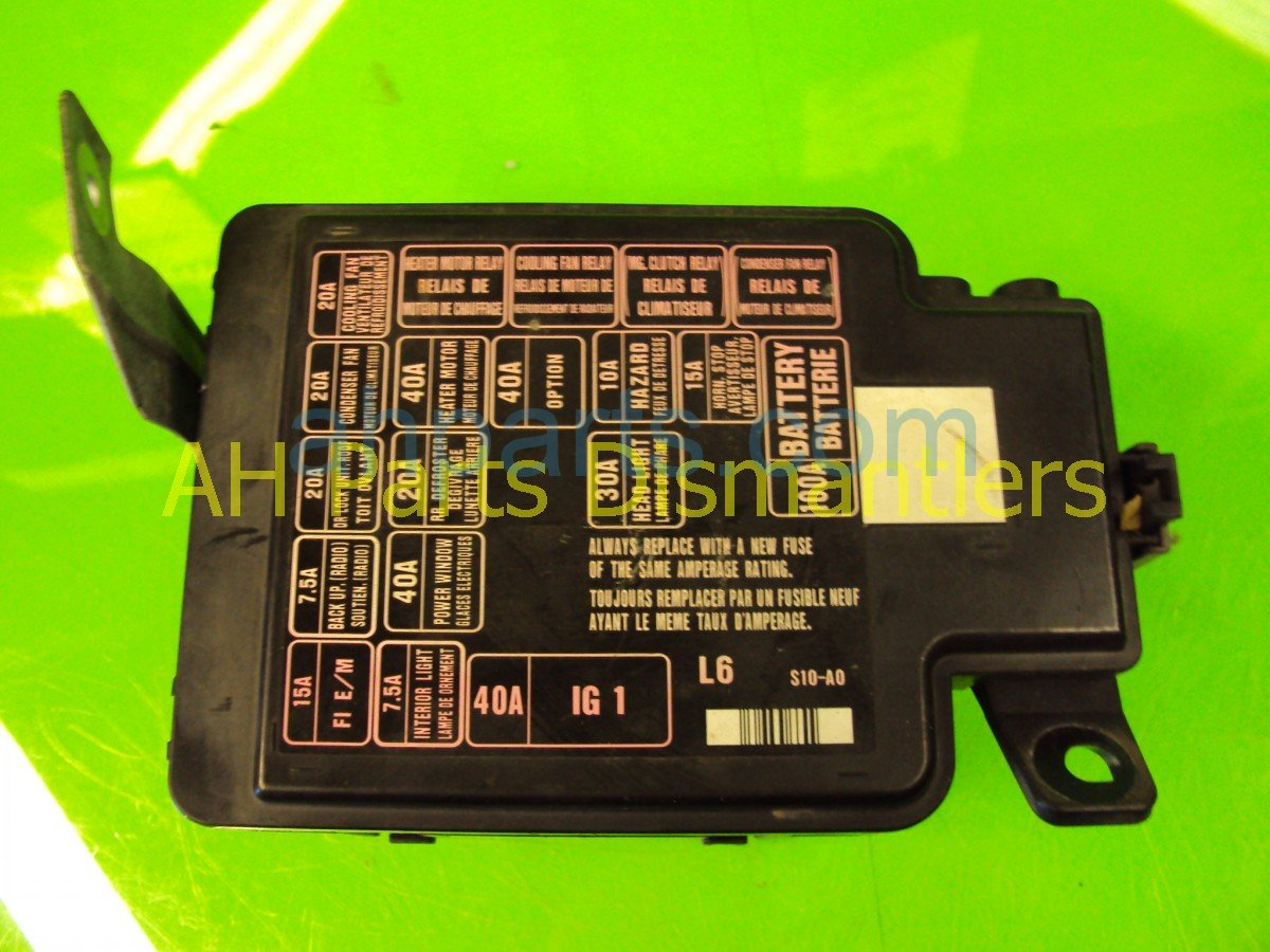 1999 Honda Cr V Fuse Box Replacement List Of Schematic Circuit Montana 2001 Main 38250 S10 A01 Rh Ahparts Com