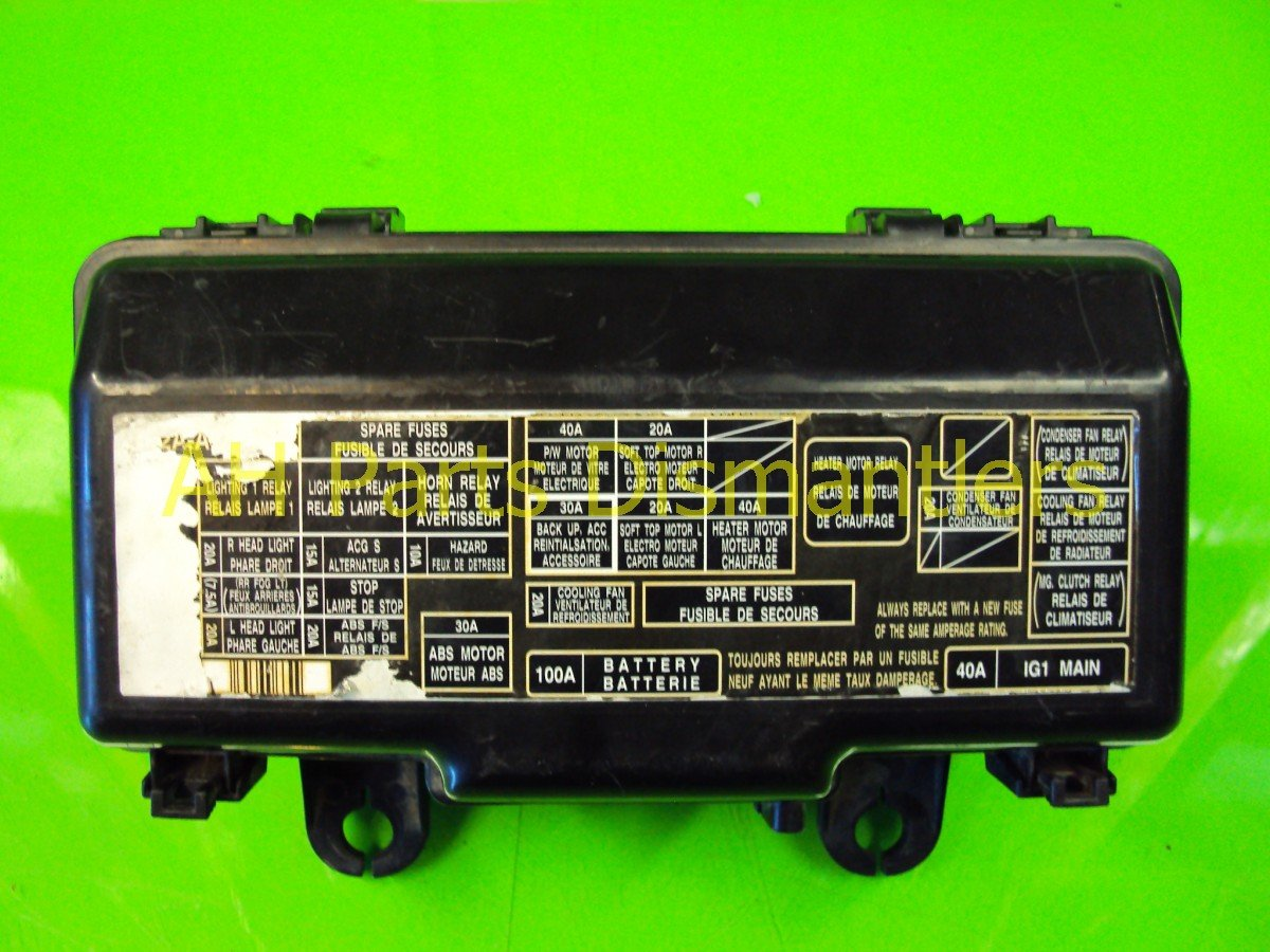 2002 Honda S2000 ENGINE FUSE BOX 38250 S2A A02 38250S2AA02 Replacement