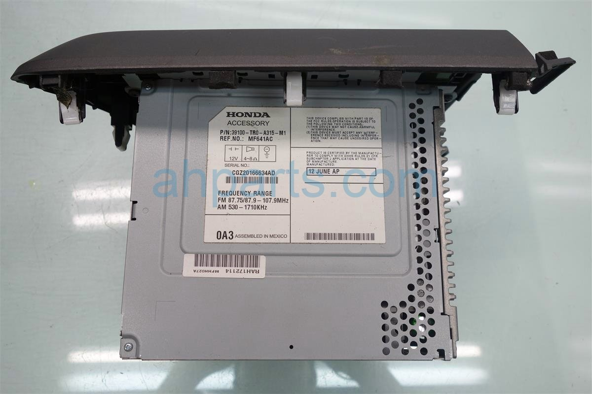 2012 Honda Civic Am/fm/cd Player Replacement