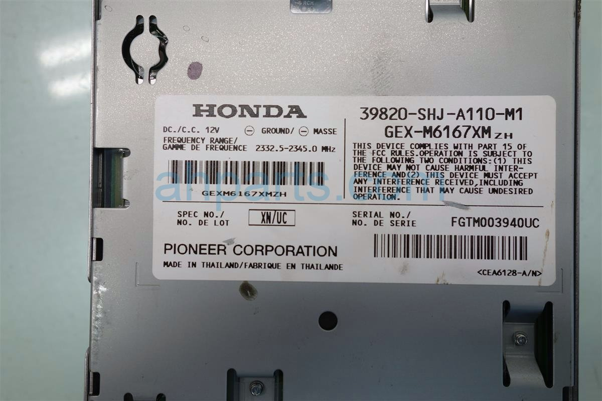 2007 Honda Odyssey Xm Unit 39820 SHJ A11 Replacement