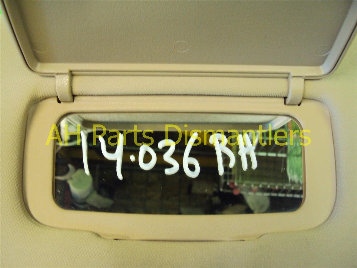 2007 Acura TL Passenger Sun Visor, Tan Stays Up 83230 SEP A02ZC Replacement