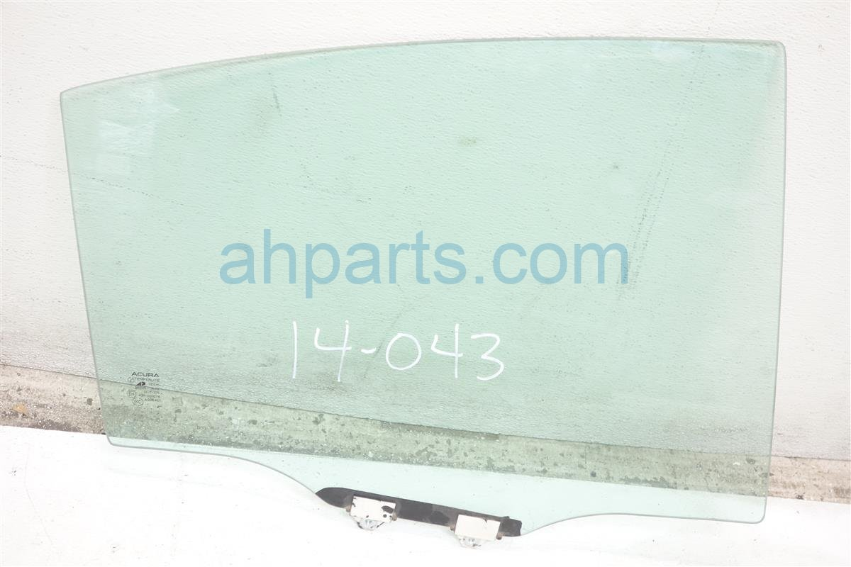 2007 Acura TL Rear Passenger Door Glass Window 73400 SEP A20 Replacement