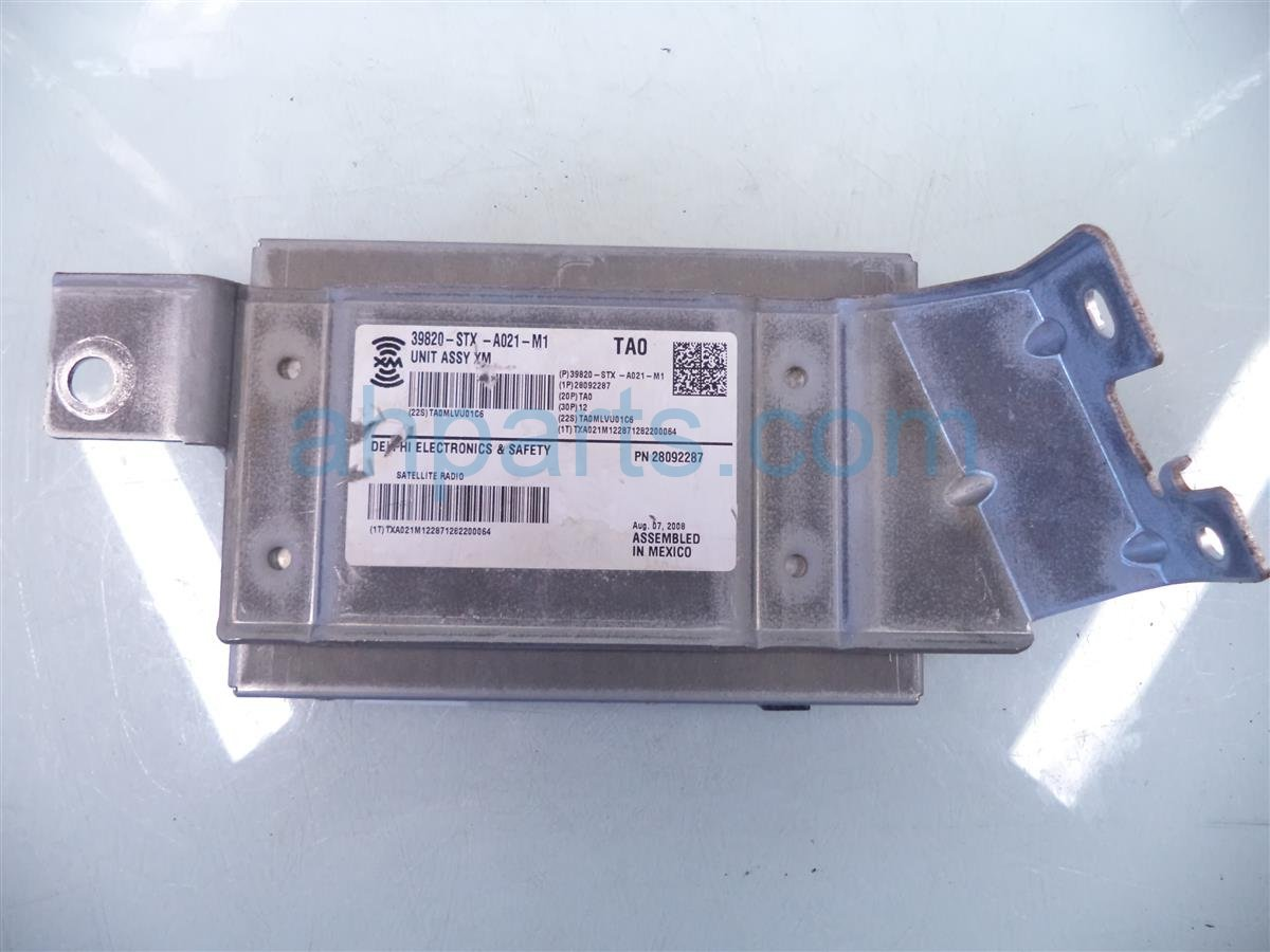 2009 Acura MDX XM SATELLITE UNIT COMPUTER MODULE 39820 STX A02 39820STXA02 Replacement
