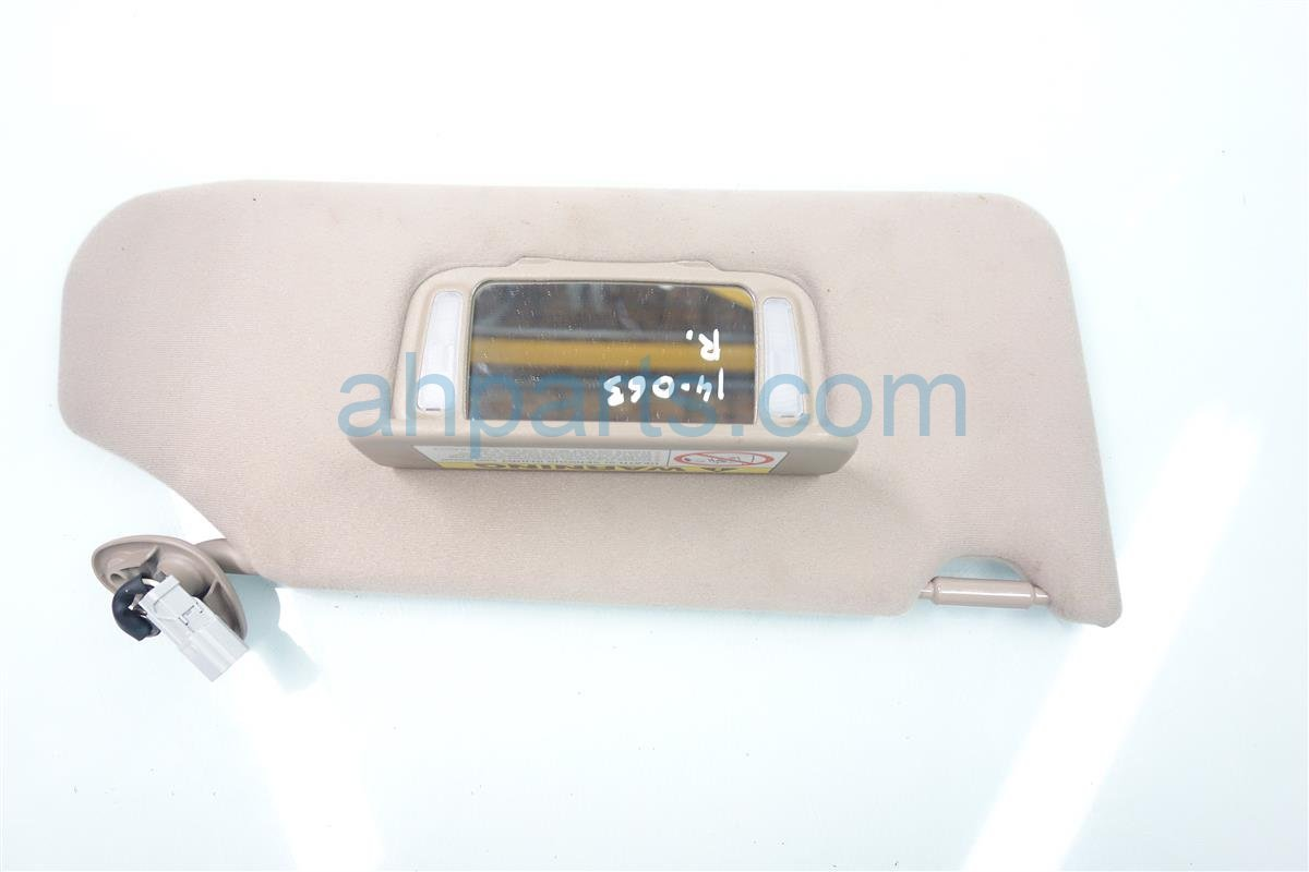 2001 Honda Accord Passenger Sun Visor Tan 83230 S84 A03ZC Replacement