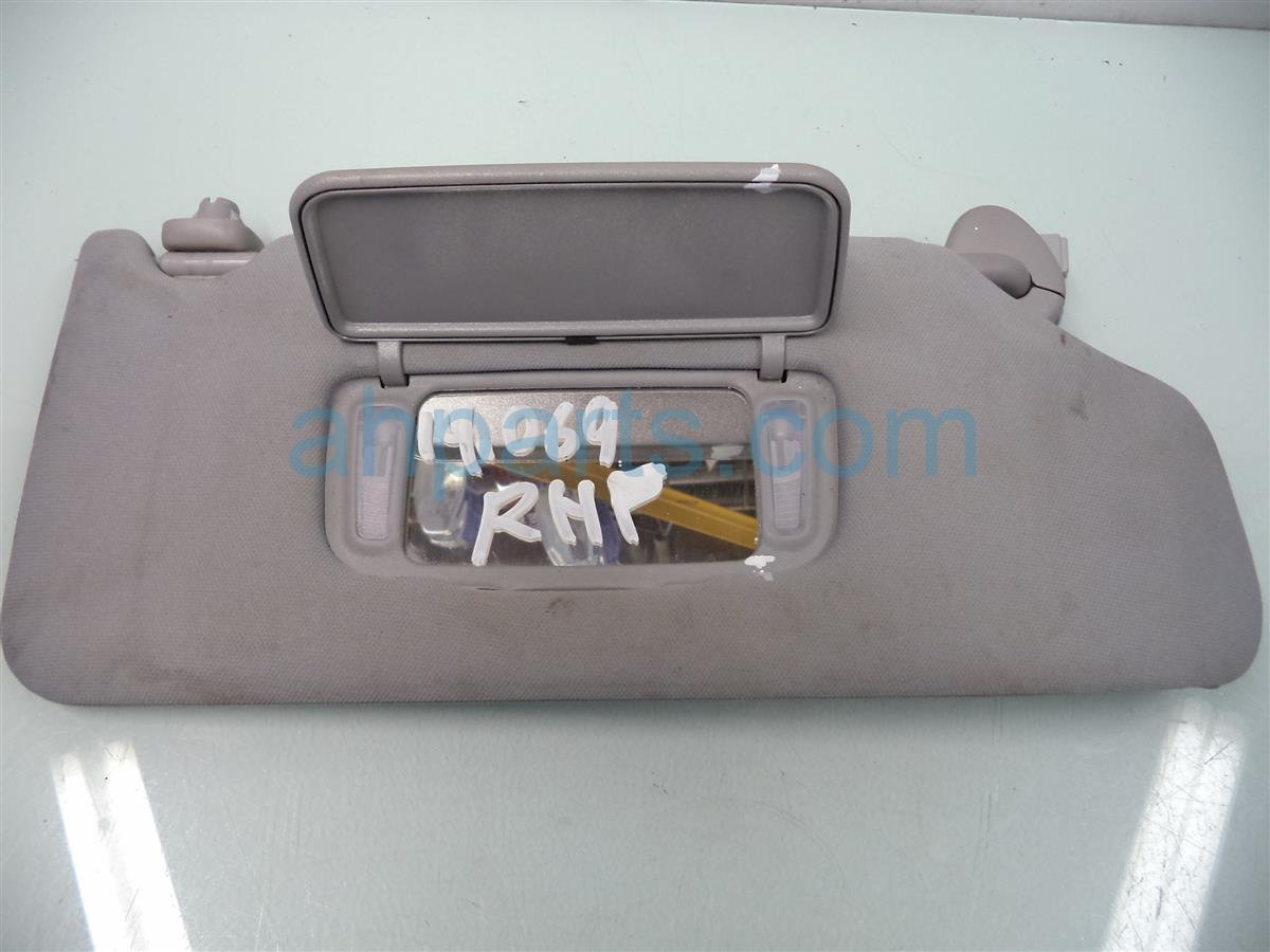 2005 Honda Accord Passenger SUN VISOR GRAY LITTLE DIRTY Replacement