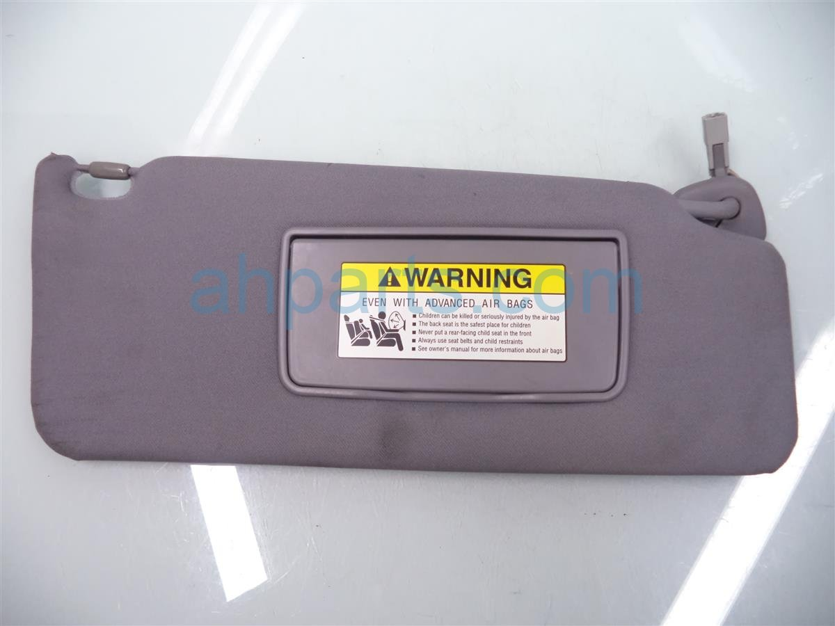 2007 Acura MDX Passenger SUN VISOR gray 83230 STX A01ZC 83230STXA01ZC Replacement