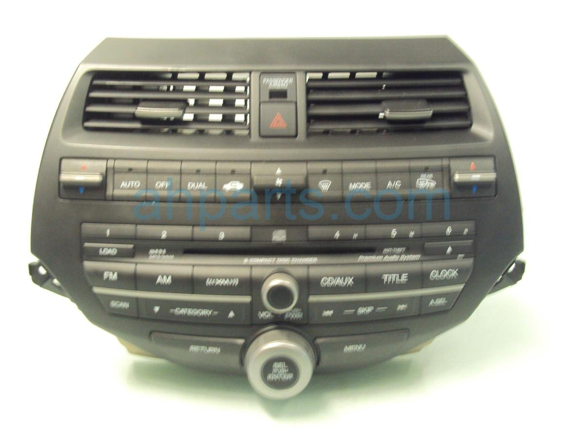 2009 Honda Accord AM FM 6 DISC CD RADIO 39100 TE0 A60ZA 39100TE0A60ZA Replacement
