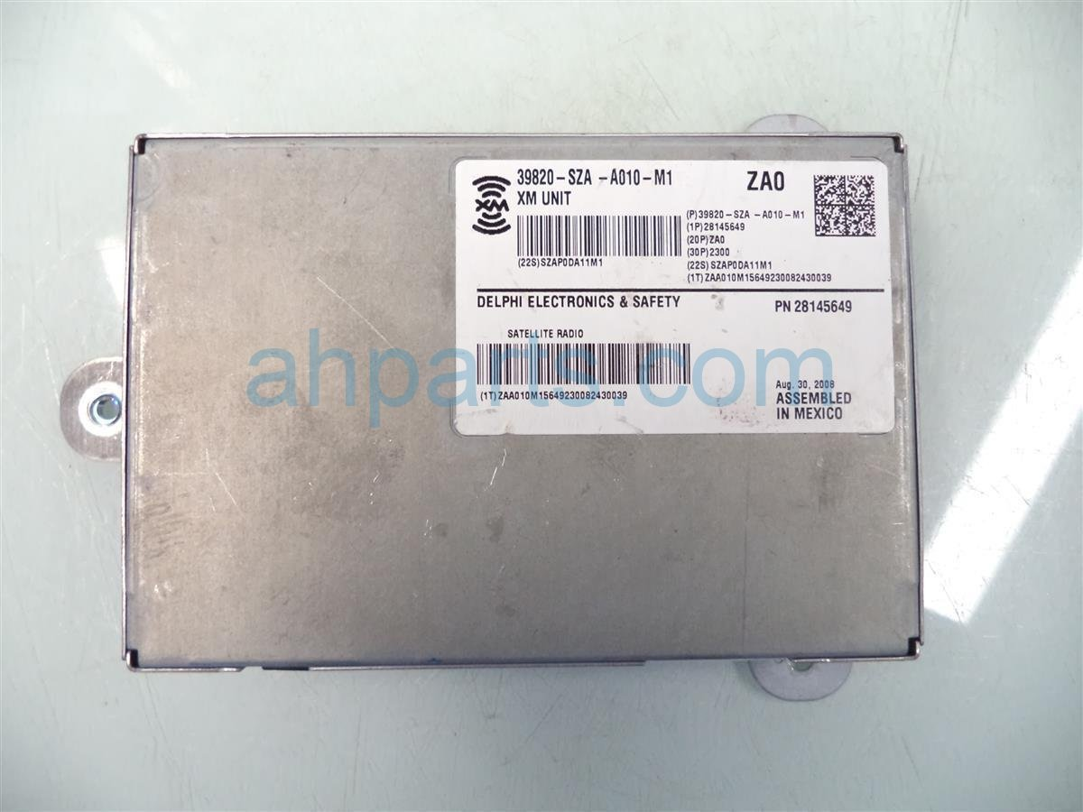 2009 Honda Pilot Xm Unit 39820 SZA A01 Replacement