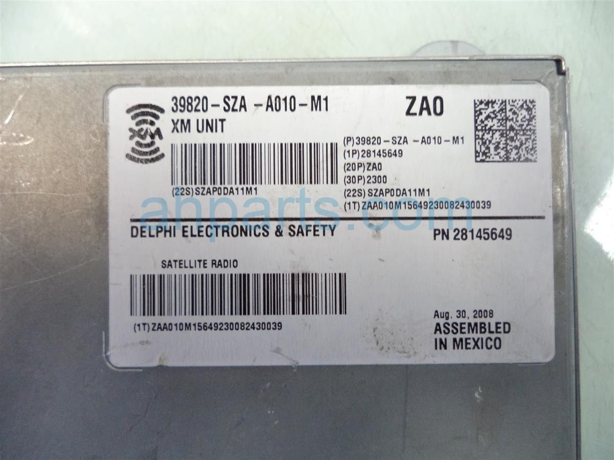 2009 Honda Pilot XM UNIT 39820 SZA A01 39820SZAA01 Replacement