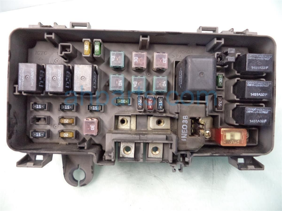 ... 2001 Honda Odyssey Engine Fuse Box No Lid 38250 S0X A12 Replacement ...