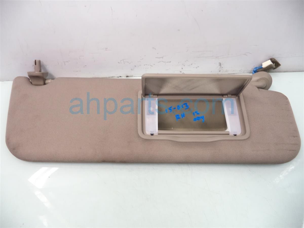 2011 Honda Odyssey Passenger Sun Visor Tan Needs Clean 83230 TK8 A01ZA Replacement