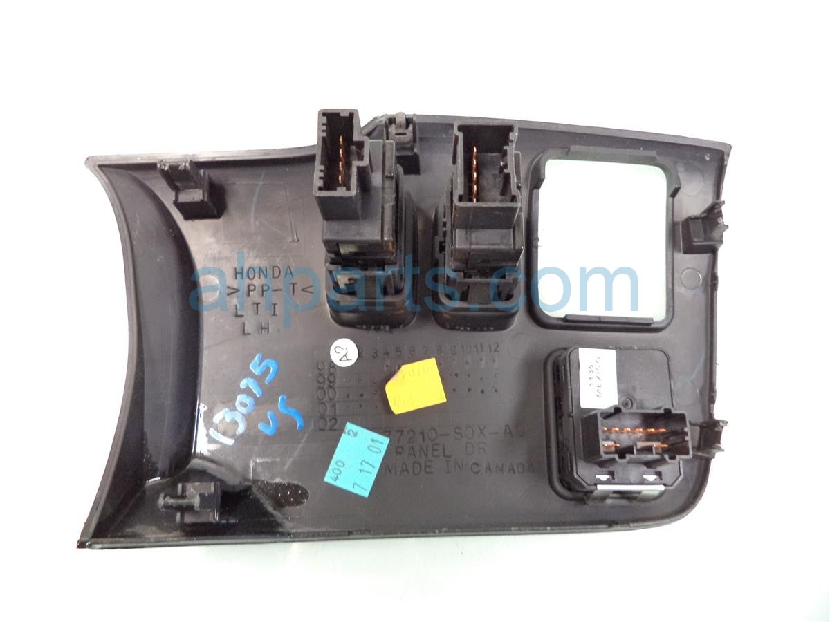 2001 Honda Odyssey Driver SIDE PANEL WITH BUTTON CONTROLS 35190 S82 A01ZA 35190S82A01ZA Replacement