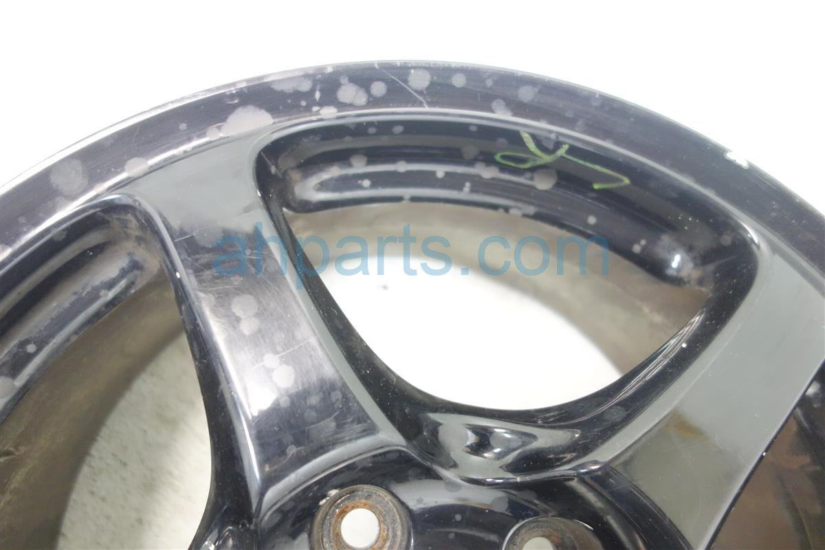 2001 Honda S2000 Rim Rear driver 16IN WHEEL 5 SPOKE PAINTED BLK 42700 S2A A02 42700S2AA02 Replacement