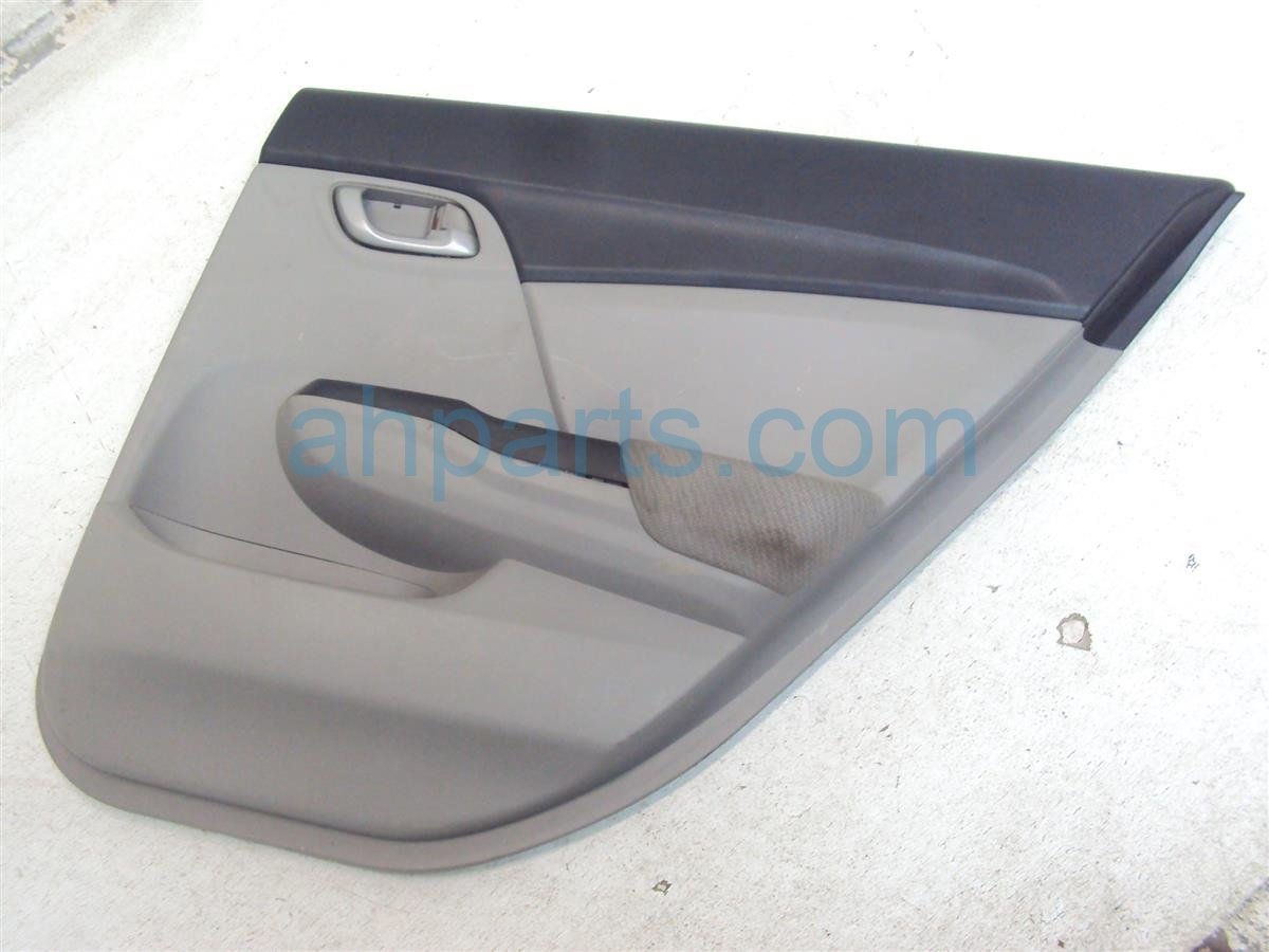 2013 Honda Civic Trim / Liner Rear Passenger Door Panel Gray Complete 83700 TR3 A21ZC Replacement