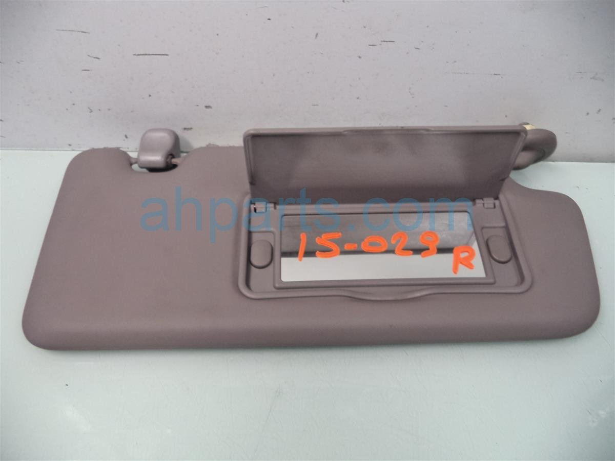2013 Honda Civic Passenger SUN VISOR GRAY 83230 TR0 A02ZB 83230TR0A02ZB Replacement