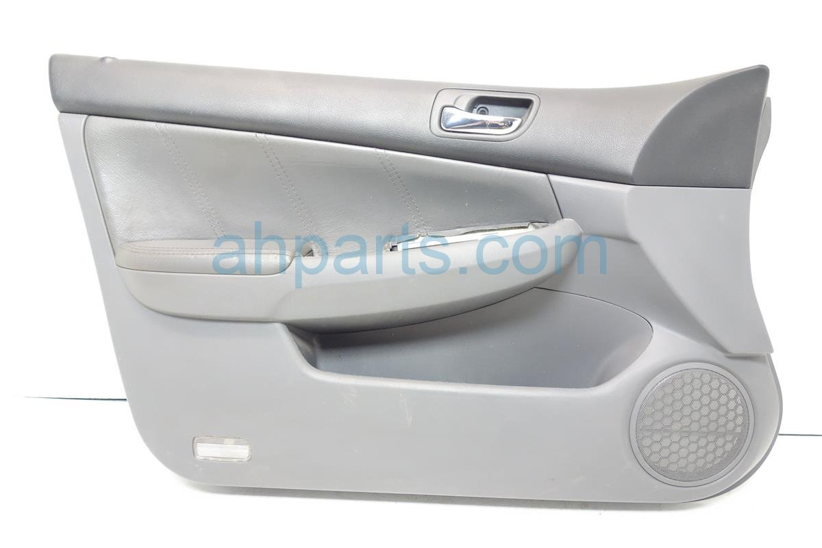 2003 Honda Accord Liner Front driver DOOR TRIM PANEL GRAY LEATHER 83550 SDA A62ZB 83550SDAA62ZB Replacement