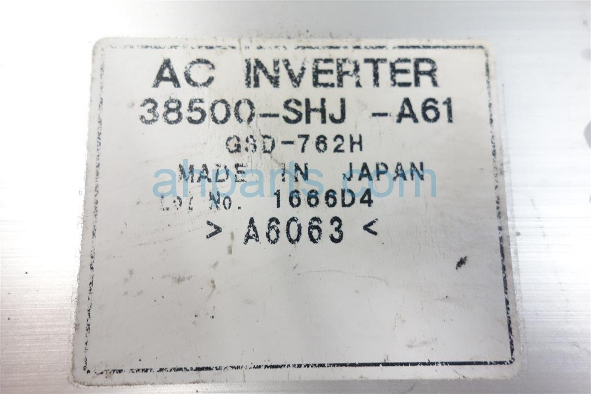2007 Honda Odyssey AC INVERTER UNIT 38500 SHJ A61 38500SHJA61 Replacement