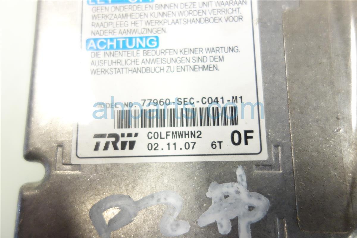 2008 Acura TSX SRS UNIT BAD 77960 SEC C04 77960SECC04 Replacement