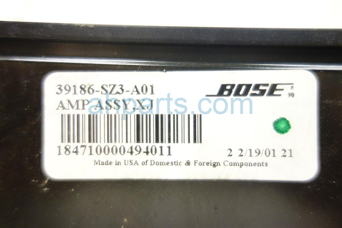 2002 Acura RL AMP 39186 SZ3 A01 39186SZ3A01 Replacement