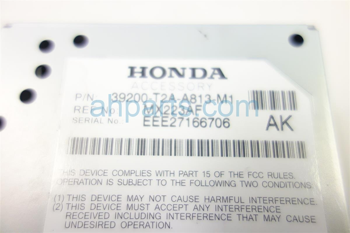 2014 Honda Accord ACTIVE NOISE CONTROL UNIT 39200 T2A A81 39200T2AA81 Replacement