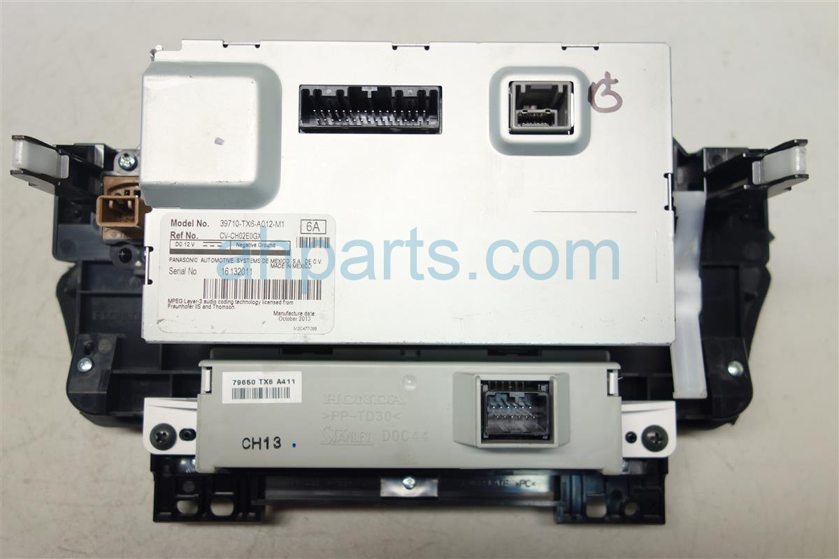 2014 Acura ILX UPPER DISPLAY NON NAVIGATION 39710 TX6 A01 39710TX6A01 Replacement