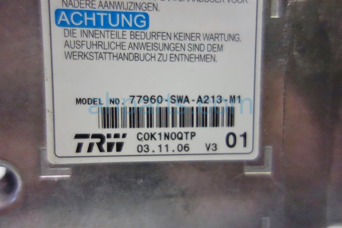 2007 Honda CR V SRS UNIT BAD 77960 SWA A23 77960SWAA23 Replacement