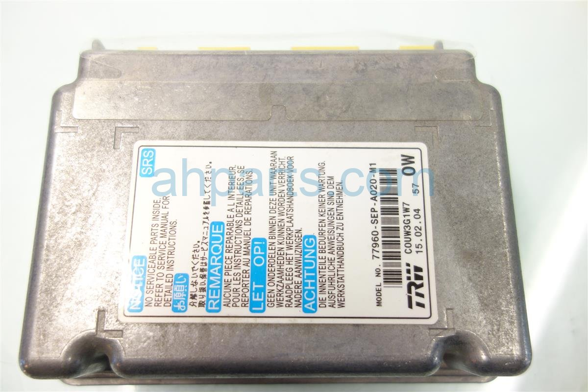 2004 Acura TL SRS COMPUTER 77960 SEP A02 77960SEPA02 Replacement