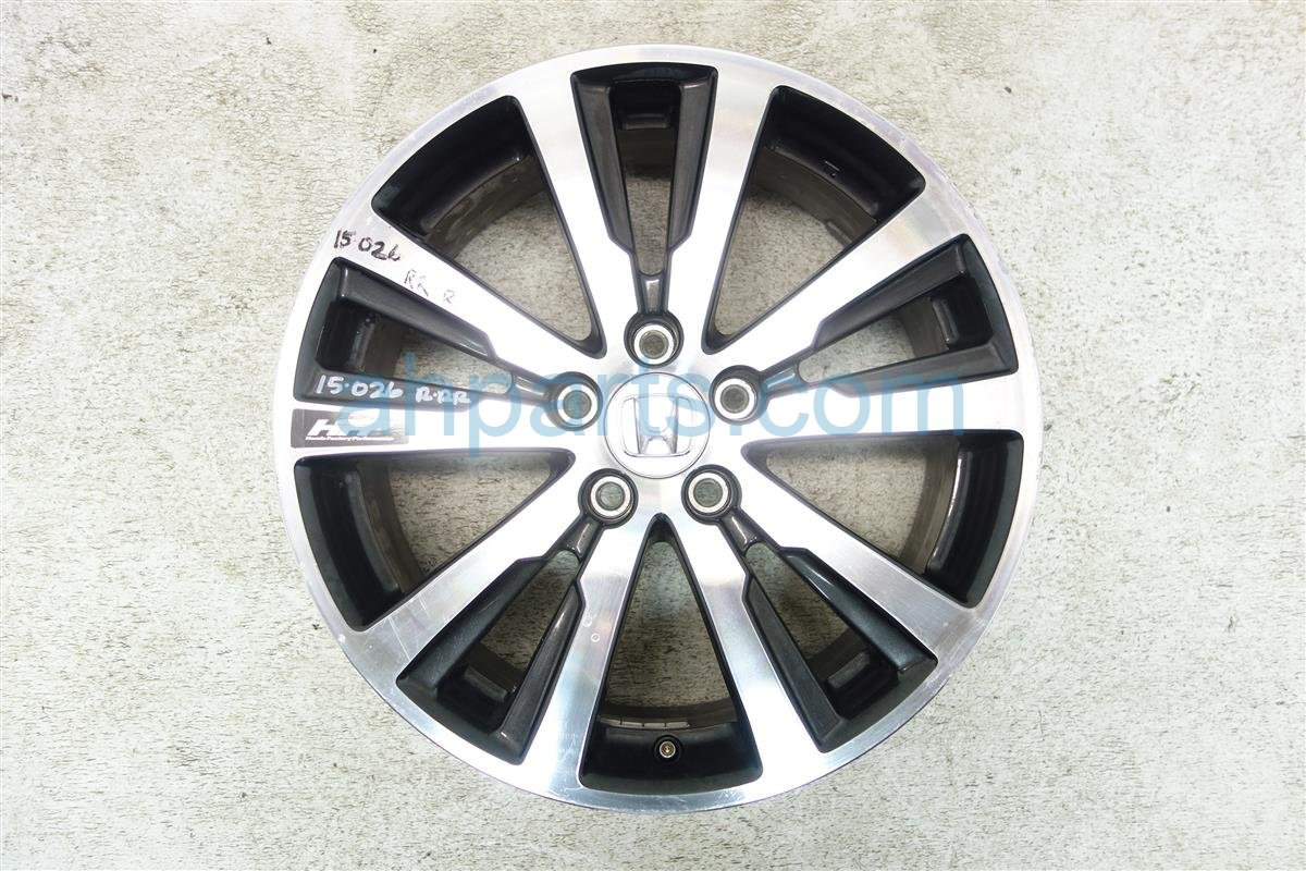 2014 Honda Civic Wheel 10 SPOKE 18 Rear passenger HFP RIM 08W18 TR0 100A 08W18TR0100A Replacement