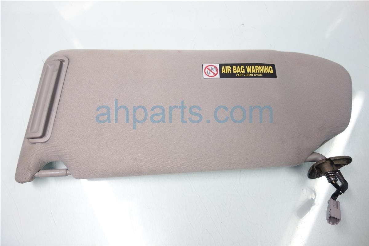 2003 Honda Pilot Passenger SUN VISOR Gray 83230 S9V A01ZB 83230S9VA01ZB Replacement