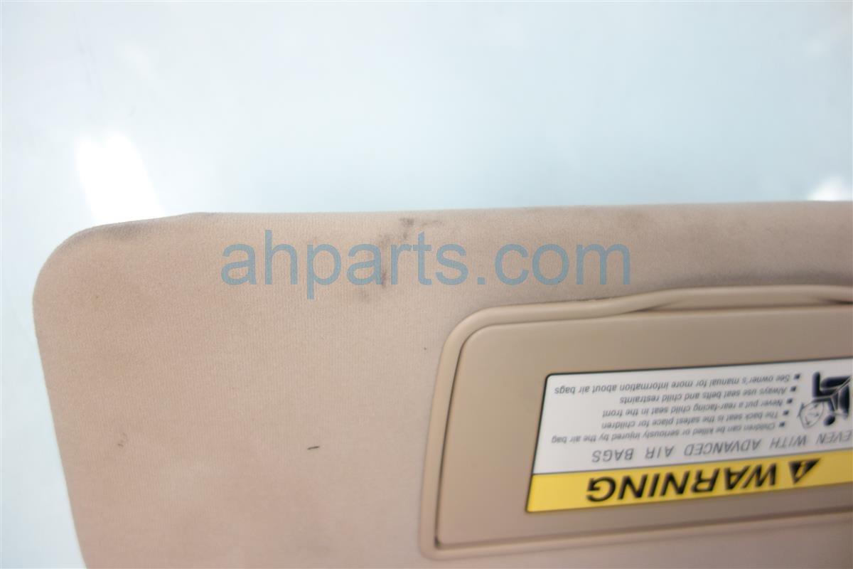 2005 Acura RL Passenger SUN VISOR TAN 83230 SJA A01ZF 83230SJAA01ZF Replacement