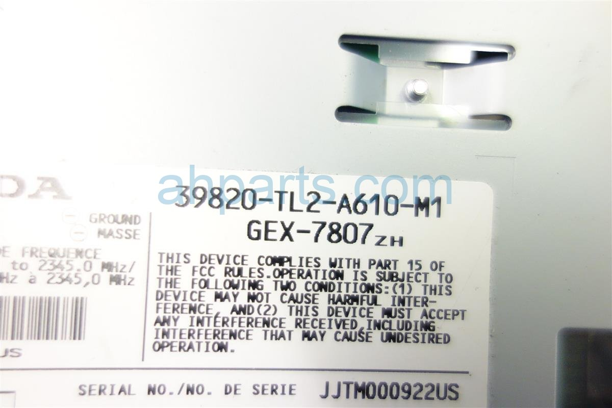 2011 Acura TSX XM UNIT 39820 TL2 A61 39820TL2A61 Replacement