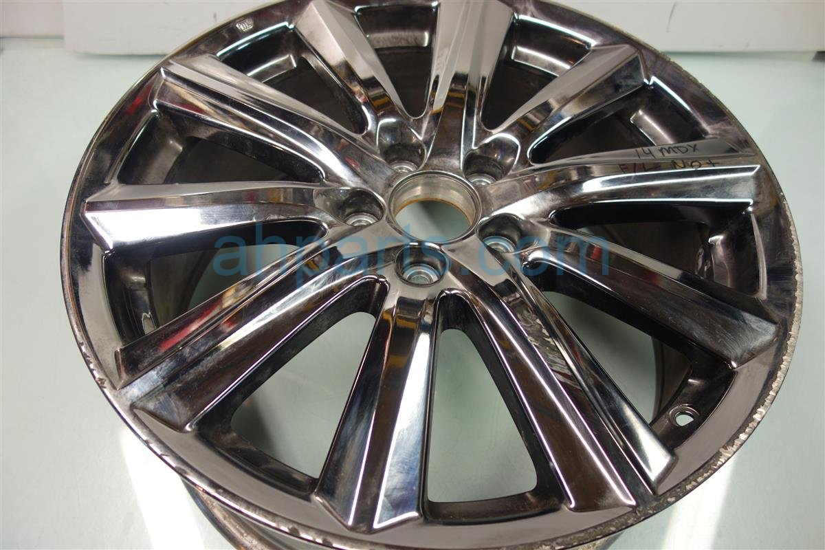 2014 Acura MDX Wheel 14 MDX RIM 10 SPK Front driver CHROME SCRAPES Replacement