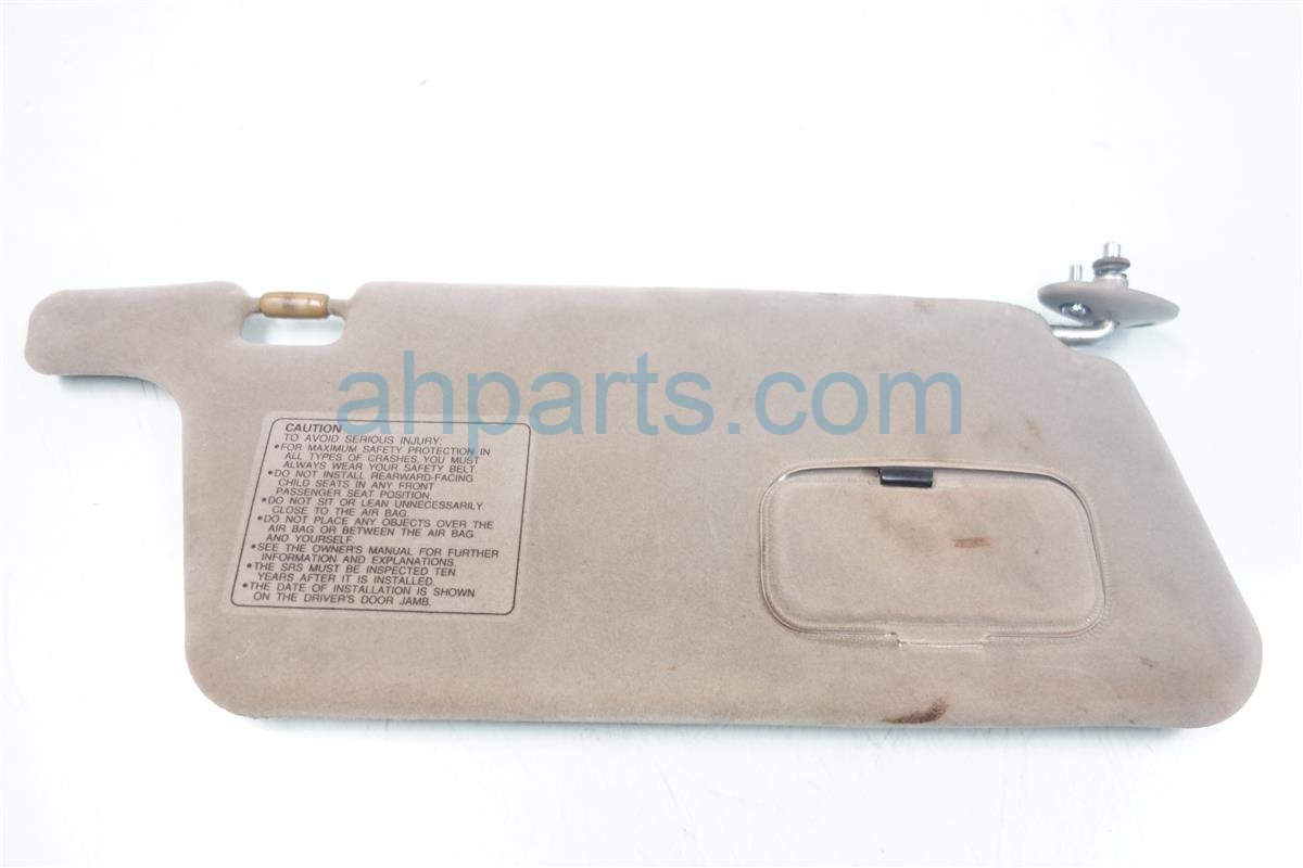 1996 Acura Integra Passenger SUN VISOR gray DIRTY 83230 ST7 A04ZA 83230ST7A04ZA Replacement