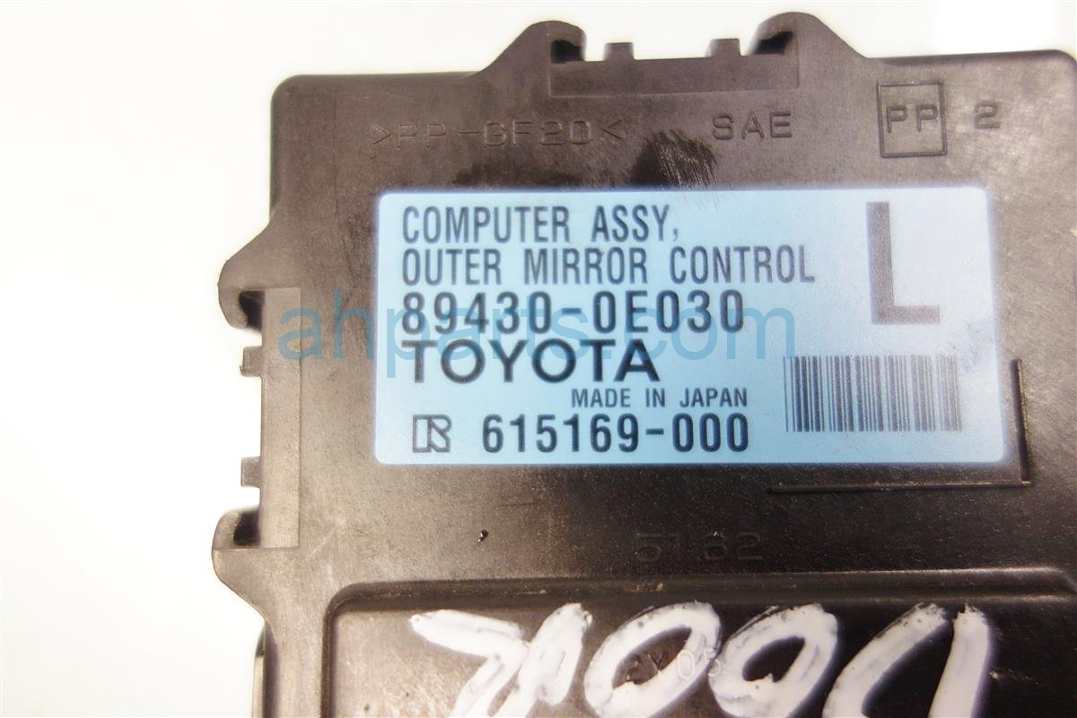 2010 Lexus Rx350 Front driver MIRROR CONTROL UNIT 89430 0E030 Replacement