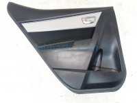 2015 Toyota Corolla Rear driver DOOR PANEL TRIM LINER black 67640 02R01 6764002R01 Replacement