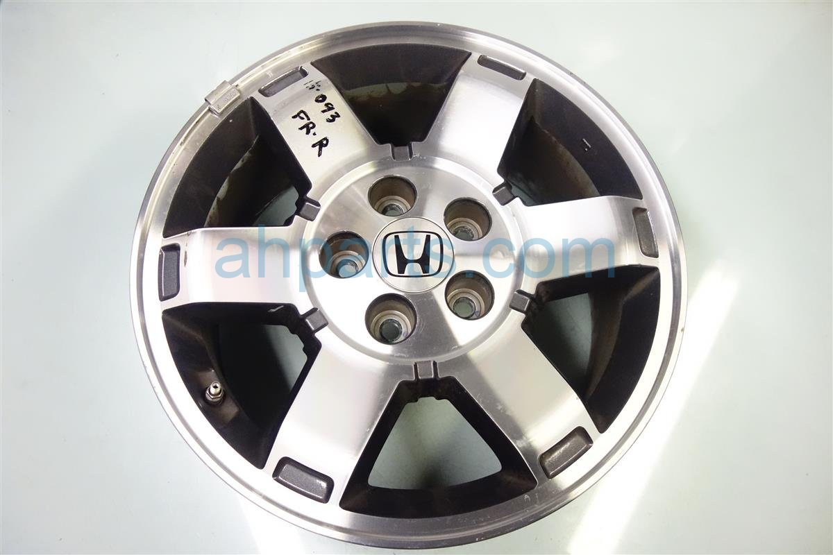 2009 Honda Pilot Front passenger WHEEL RIM 17 6 spoke 42700 SZA A61 42700SZAA61 Replacement