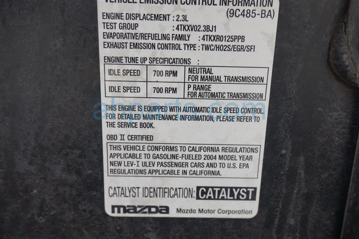 2004 Mazda 6 Bose Audio Amplifier Module Gm1a 66 92x Engine Parts Diagram Replacement